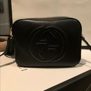 Black Leather Gucci Soho Disco Crossbody Bag